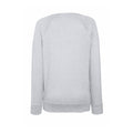 Heather Grey - Back - Fruit OF The Loom Ladies Fitted Lightweight Raglan Sweatshirt (240 GSM)