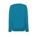 Azure Blue - Back - Fruit OF The Loom Ladies Fitted Lightweight Raglan Sweatshirt (240 GSM)