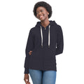 Heather Gray Melange - Front - Mantis Womens-Ladies Superstar Zip Hooded Sweatshirt - Hoodie