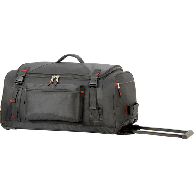 Black - Side - Shugon Paris Trolley Holdall - Travel Bag (78 Liters)