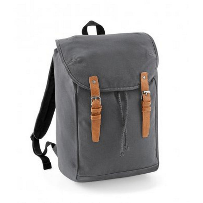 Graphite Gray - Front - Quadra Vintage Rucksack - Backpack