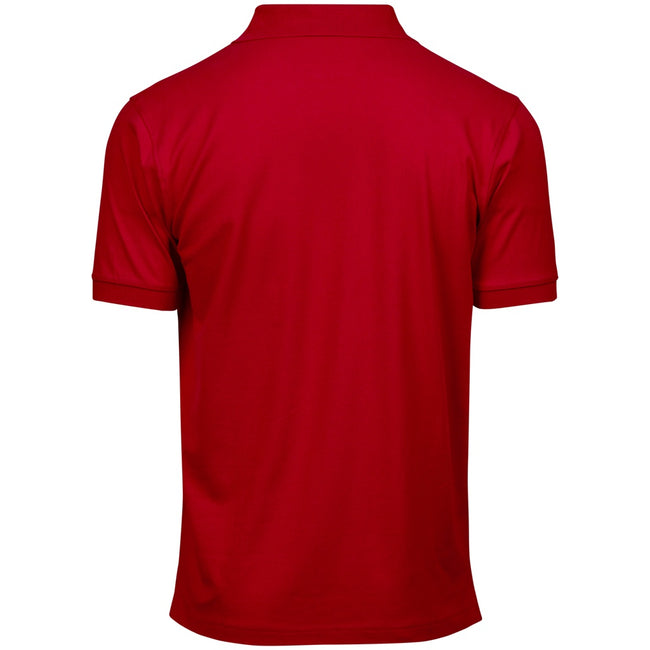 Navy Blue - Front - Tee Jays Mens Luxury Stretch Short Sleeve Polo Shirt