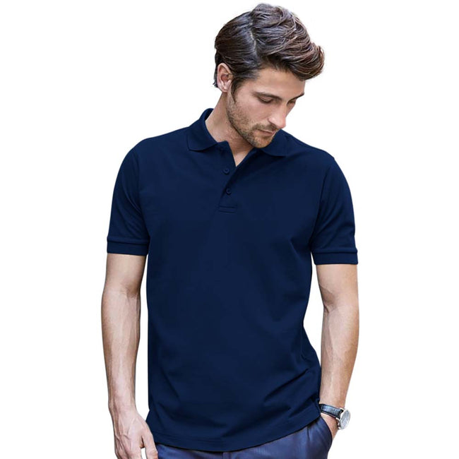 Powder Gray - Front - Tee Jays Mens Luxury Stretch Short Sleeve Polo Shirt