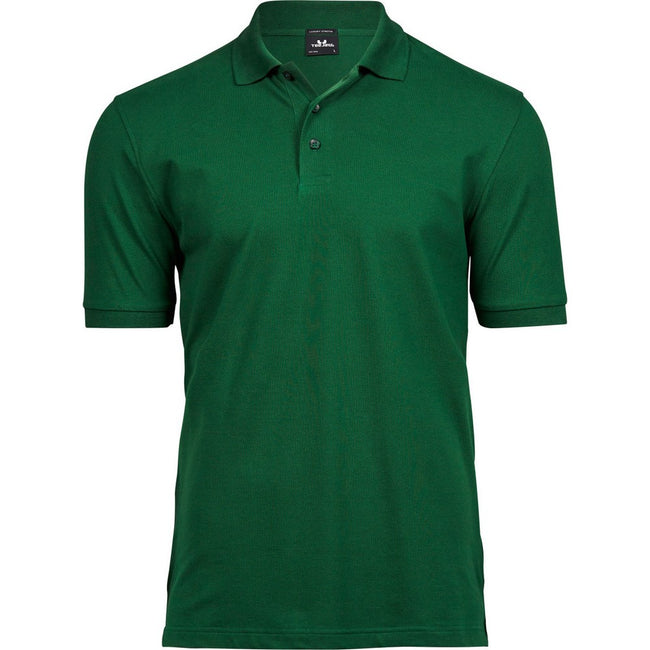 Forest Green - Front - Tee Jays Mens Luxury Stretch Short Sleeve Polo Shirt