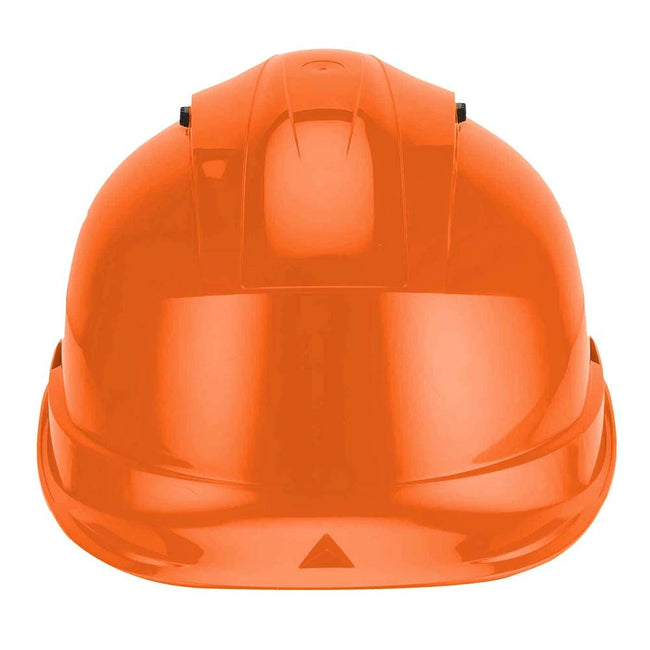 Orange - Side - Delta Plus Quartz Rotor Ventilated Safety Work Helmet