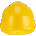 Yellow - Side - Delta Plus Quartz Rotor Ventilated Safety Work Helmet