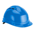 Blue - Lifestyle - Delta Plus Quartz Rotor Ventilated Safety Work Helmet