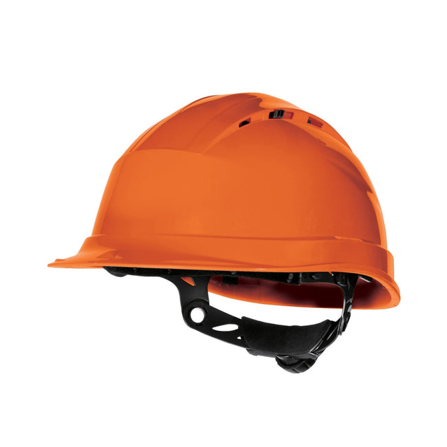 Orange - Front - Delta Plus Quartz Rotor Ventilated Safety Work Helmet
