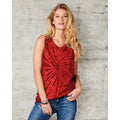 Spiral Red - Back - Colortone Womens-Ladies Sleeveless Tie-Dye Tank Top