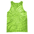 Spiral Lime - Front - Colortone Womens-Ladies Sleeveless Tie-Dye Tank Top