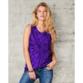 Spiral Purple - Back - Colortone Womens-Ladies Sleeveless Tie-Dye Tank Top