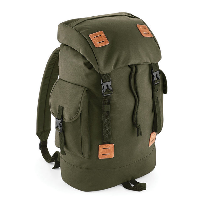 Navy Dusk-Tan - Front - Bagbase Urban Explorer Backpack-Rucksack Bag