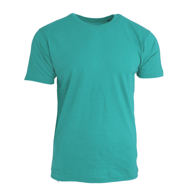 Turquoise - Front - Nakedshirt Mens Larry Short Sleeve Organic Cotton T-Shirt