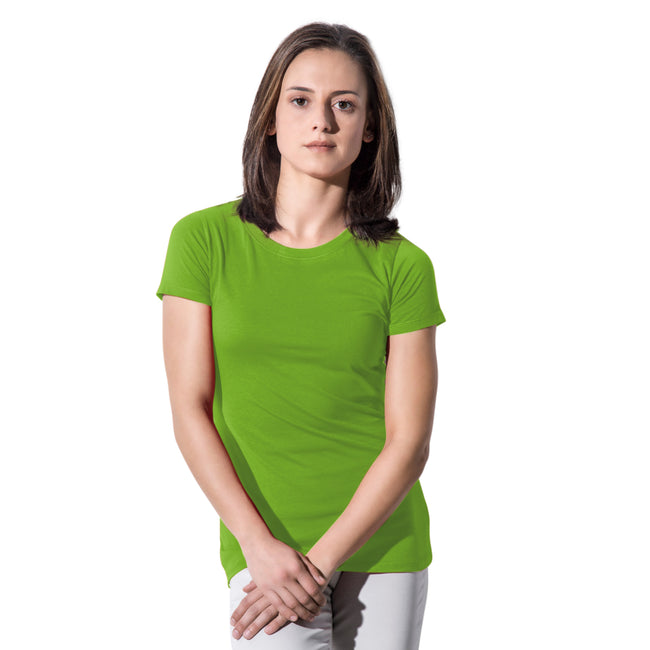 Red - Front - Nakedshirt Womens-Ladies Ruth Organic Cotton Slim Fit T-Shirt