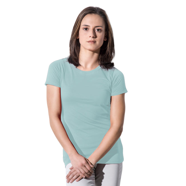 Mint - Front - Nakedshirt Womens-Ladies Ruth Organic Cotton Slim Fit T-Shirt