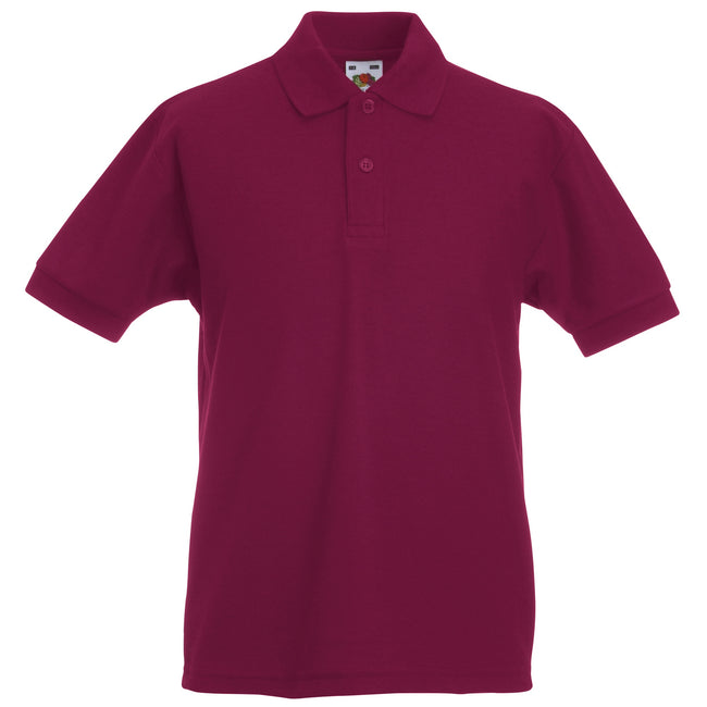 Royal - Front - Fruit Of The Loom Childrens-Kids Big Girls 65-35 Pique Polo Shirt