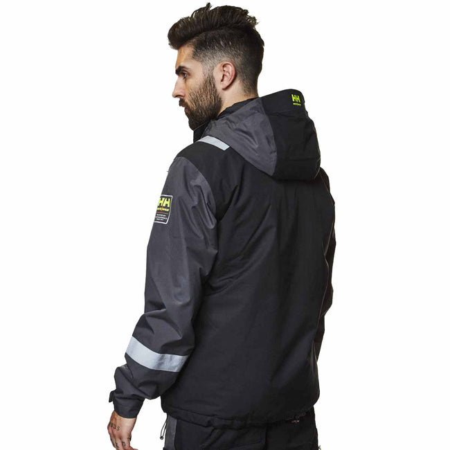 Egyptian Blue-Evening Blue - Back - Helly Hansen Mens Aker Winter Jacket