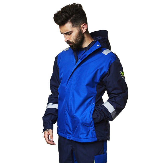 Slate Gray-Black - Front - Helly Hansen Mens Aker Winter Jacket