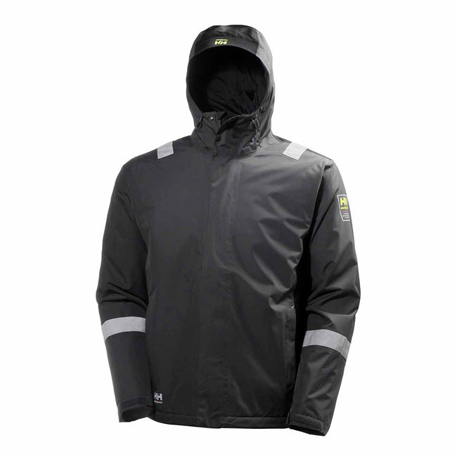 Egyptian Blue-Evening Blue - Front - Helly Hansen Mens Aker Winter Jacket