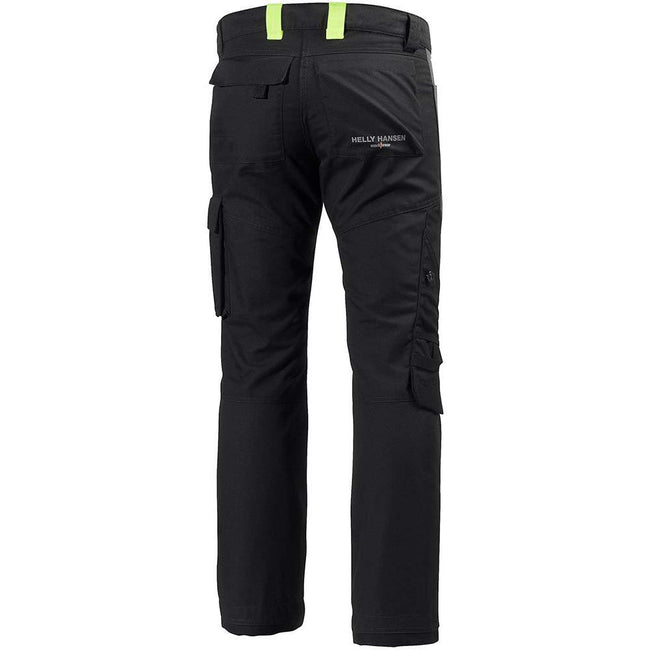 Jet Black-Dark Gray - Back - Helly Hansen Mens Aker Work Pants