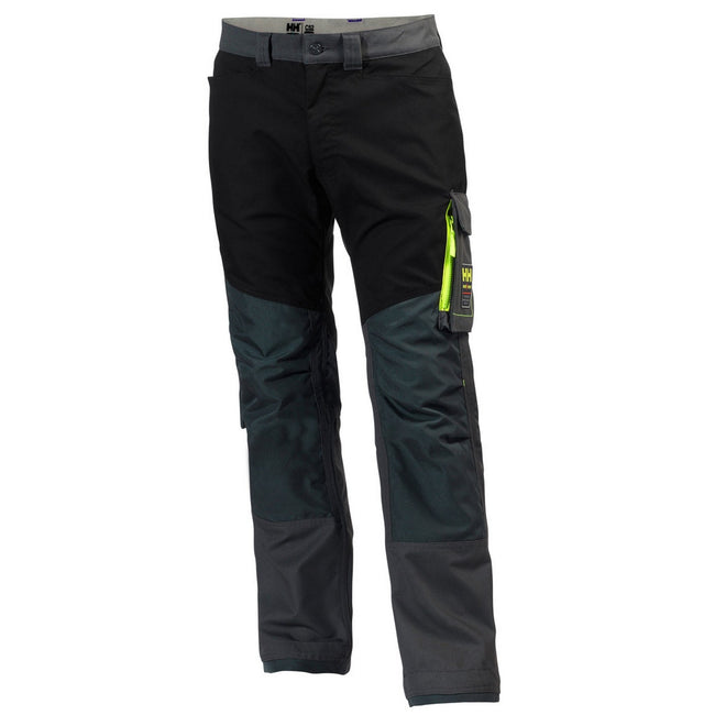 Slate Gray-Black - Front - Helly Hansen Mens Aker Work Pants