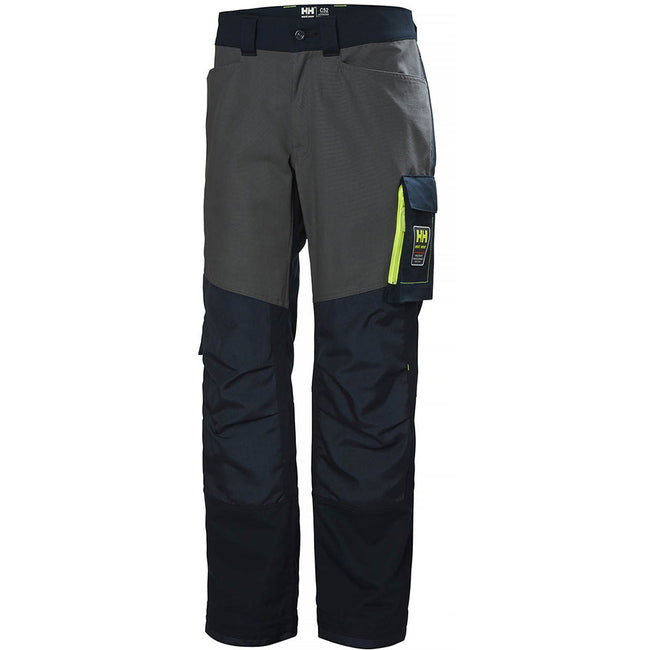 Slate Gray-Black - Side - Helly Hansen Mens Aker Work Pants