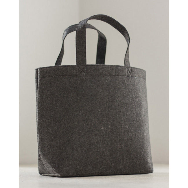 Charcoal Grey - Front - Bags By Jassz Large Felt Shopper