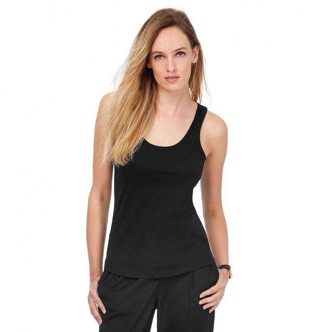 White - Front - B&C Womens-Ladies Inspire Tank