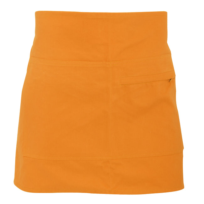 Orange - Front - Bargear® Unisex Short Bar Apron - Aprons And Tabards (Pack of 2)