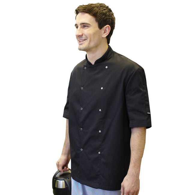 White - Front - Dennys AFD Mens Chefs Jacket - Chefswear (Pack of 2)