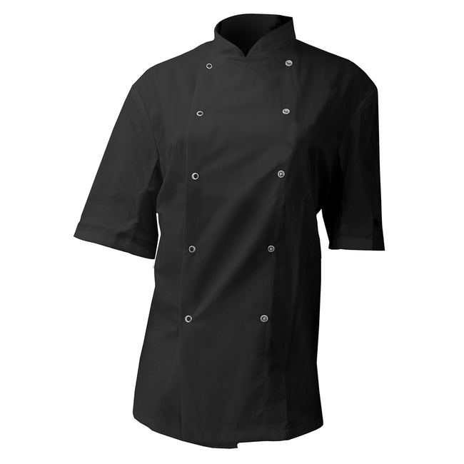 Black - Front - Dennys AFD Mens Chefs Jacket - Chefswear (Pack of 2)