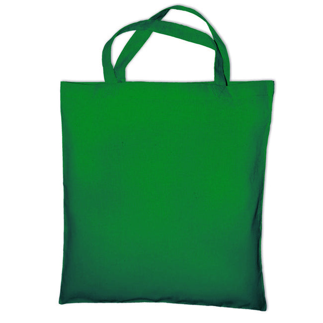 Pea Green - Front - Jassz Bags Cedar Cotton Short Handle Shopping Bag - Tote (Pack of 2)