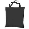 Dark Grey - Front - Jassz Bags Cedar Cotton Short Handle Shopping Bag - Tote (Pack of 2)