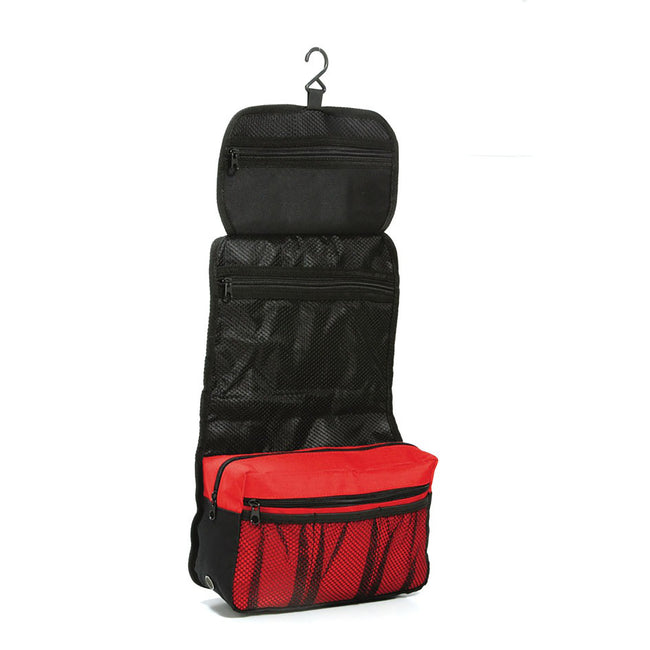 Red-Black - Back - Shugon Bristol Folding Travel Toiletry Bag - 4 Liters (Pack of 2)