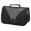 Dark Grey-Black - Front - Shugon Bristol Folding Travel Toiletry Bag - 4 Liters (Pack of 2)