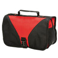Red-Black - Front - Shugon Bristol Folding Travel Toiletry Bag - 4 Liters (Pack of 2)
