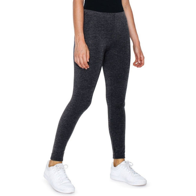 Charcoal - Front - American Apparel Womens-Ladies Winter Leggings