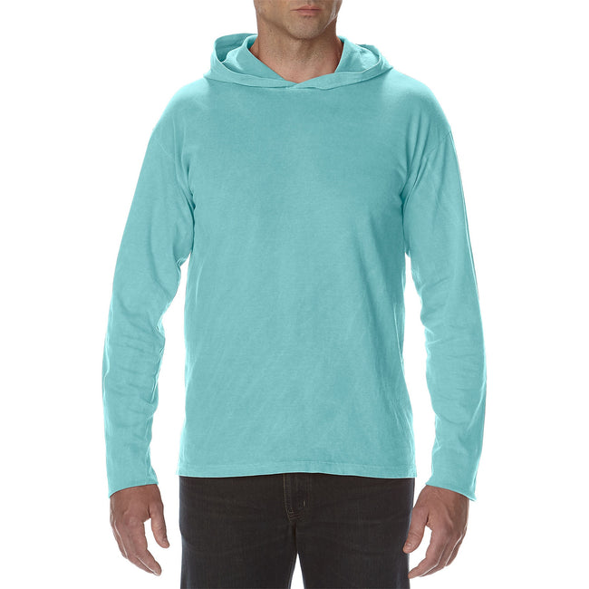 Chalky Mint - Front - Comfort Colors Unisex Adults Heavyweight Hooded Tee
