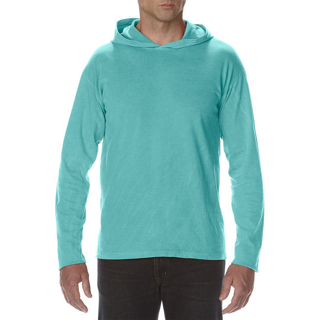 Seafoam - Front - Comfort Colors Unisex Adults Heavyweight Hooded Tee