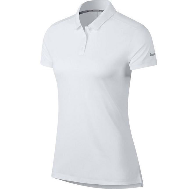 White - Front - Nike Womens-Ladies Dry Fit Polo Shirt