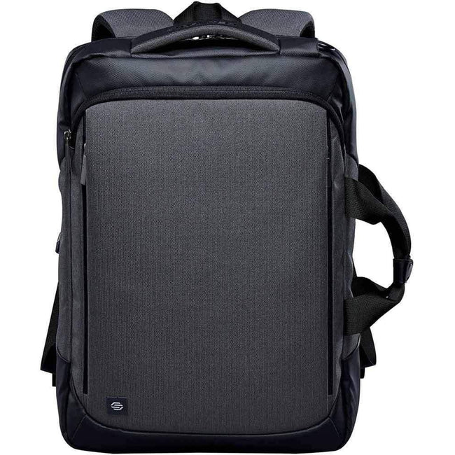Graphite Gray-Black - Back - Stormtech Adults Unisex Road Warrior Computer Bag