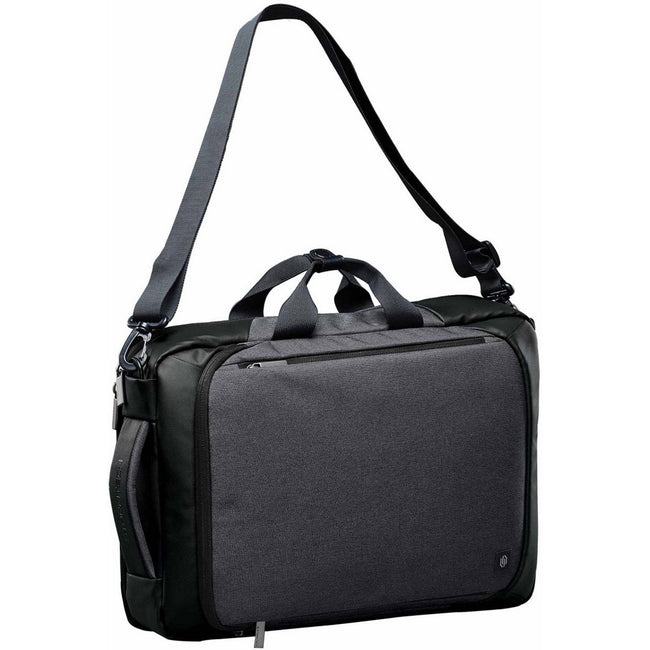 Graphite Gray-Black - Front - Stormtech Adults Unisex Road Warrior Computer Bag