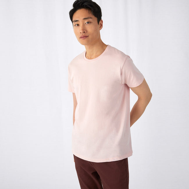 Off White - Front - B&C Mens Organic E150 T-Shirt