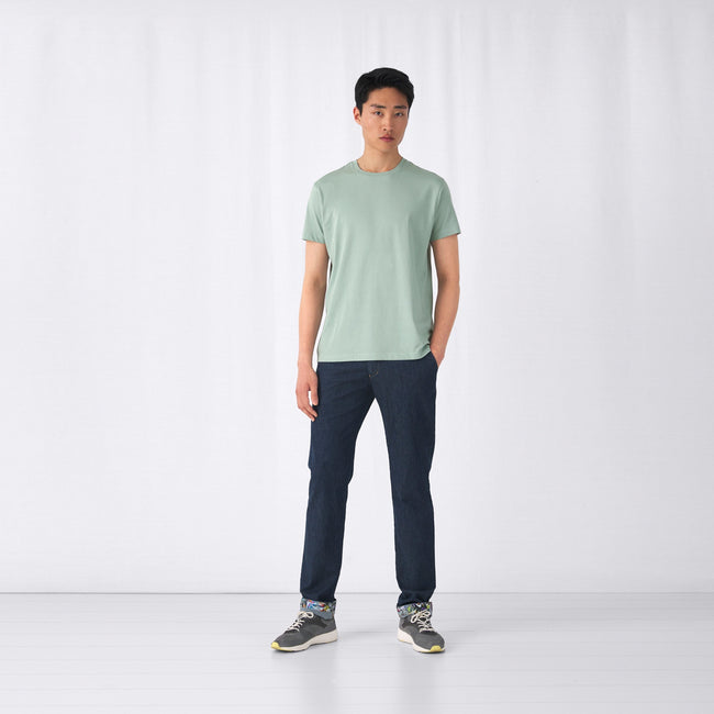 Heather Gray - Front - B&C Mens Organic E150 T-Shirt