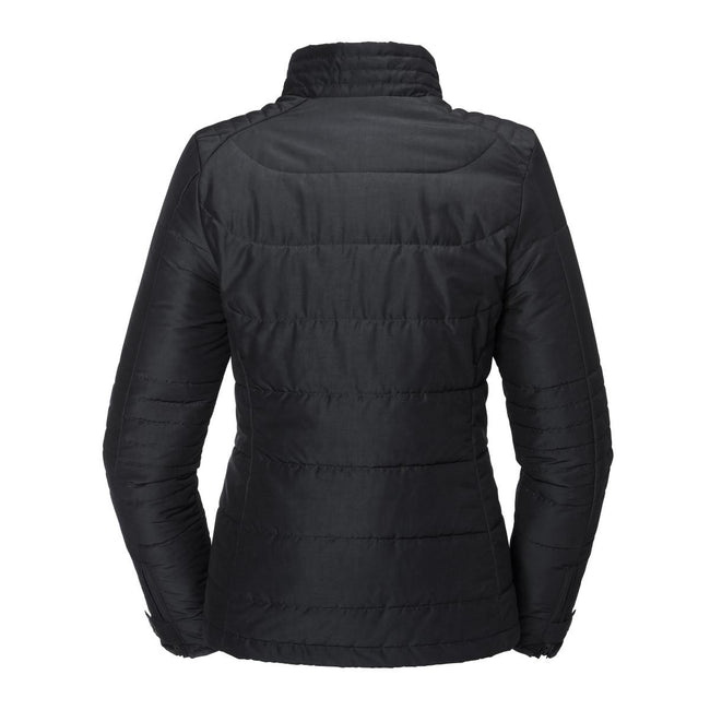 Black - Back - Russell Womens-Ladies Cross Jacket