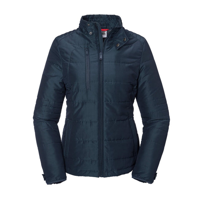 French Navy - Front - Russell Womens-Ladies Cross Jacket