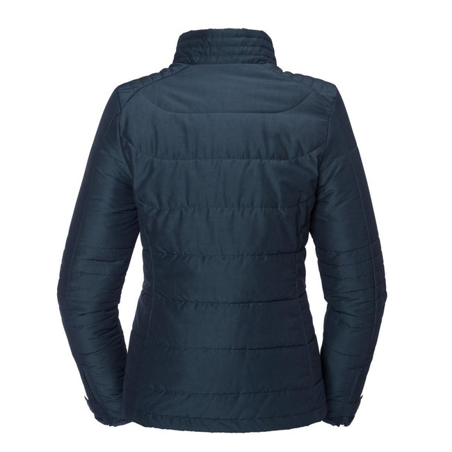 French Navy - Back - Russell Womens-Ladies Cross Jacket