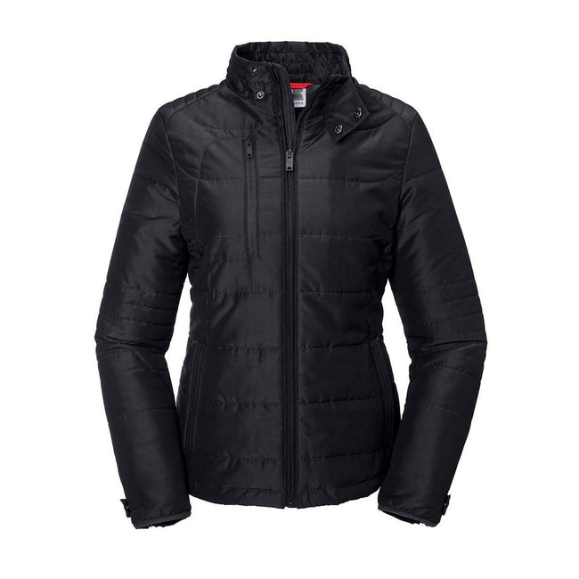 Black - Front - Russell Womens-Ladies Cross Jacket