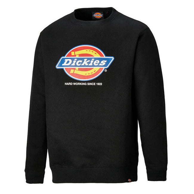 Navy Blue - Front - Dickies Adults Unisex Longton Branded Sweatshirt