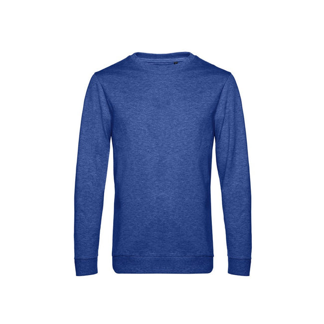 Heather Royal Blue - Front - B&C Mens Set In Sweatshirt